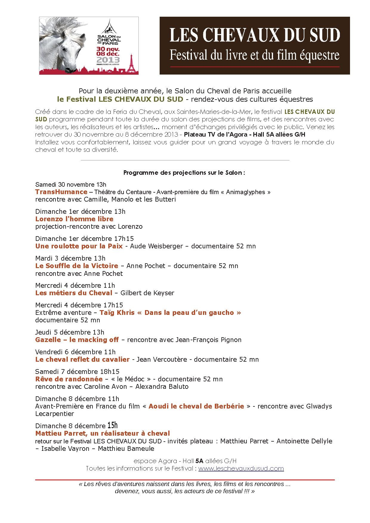 flyer M programme salon 2013